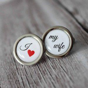 manzetove gombiky svadobne i love my wife