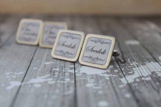 manžetové gombíky pre svedka na svadbe