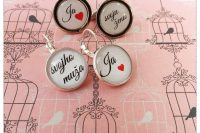 svadobný set manžetové gombíky a náušnice