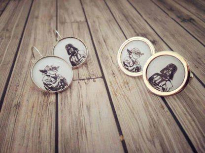 Star Wars set manžetové gombíky a náušnice