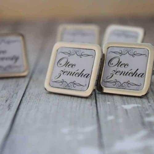 manžetové gombíky pre otca ženícha