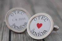 svadobné manžetové gombíky pre otca nevesty