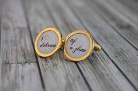 svadobné manžetové gombíky zlaté