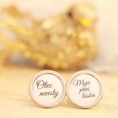 manžetové gombíky pre svadobného otca