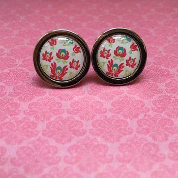svadobné manžetové gombíky folkové ružové